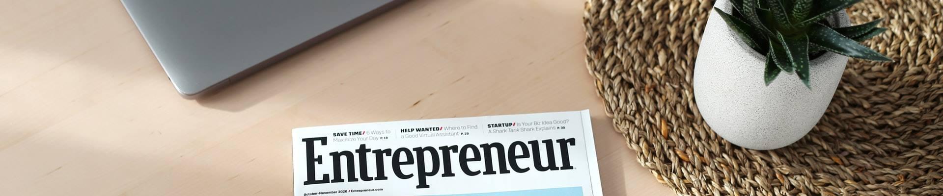 Entrepeneur magazine on a desk
